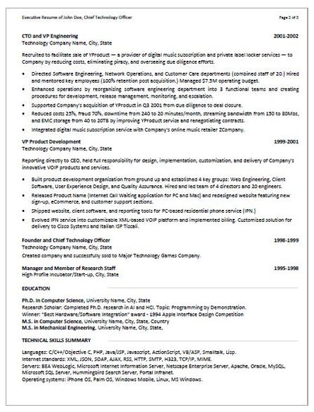 EXAMPLES - RescueResumes - Professional Resume Writing Services